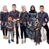 Batik keluarga family motif kawung seno biru