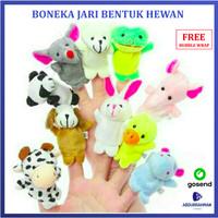 Boneka Jari Aneka Hewan Binatang Lucu - Mainan Anak Bayi Finger Puppet