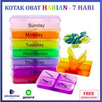 Kotak Penyimpanan Obat Tempat Simpan Obat 7 Hari Storage Box Rainbow