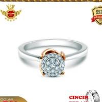 NEW ISTANA MAS- Cincin berlian Eropa asli F VVS NIM017DIAMOND RING