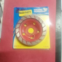 Batu Gosok Dinding Diamond Cup Wheel Turbo Nikken Resibon 4""