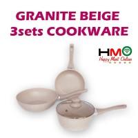 Super Pan Bolde Granite Panci Set Keramik Cookware Set Bolde Granite
