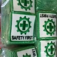 Bet Patch Logo Bordir K3 Safety First Emblem Badge Keselamatan Kerja