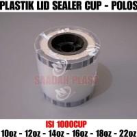 PLASTIK LID CUP SEALER / TUTUP GELAS PLASTIK / CUP SEALER POLOS