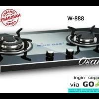 Kompor Gas Tanam Kaca Win Gas W-888 2 Tungku