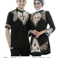 Trend Baju Muslim Couple Pasangan/Baju Kemeja Stelan Sarimbit Distro