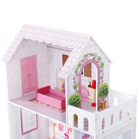 mainan rumah boneka barbie wooden house model terbaru high quality