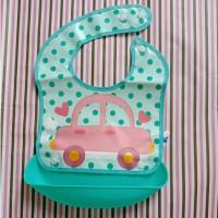 Baby Safe Foldable Bib With Crumb Catcher Celemek Bayi Slaber