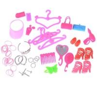 40Pcs Lot Sisir Model Mahkota untuk Aksesoris Rumah Barbie