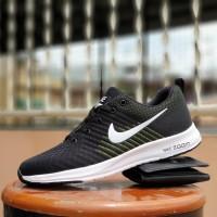sepatu olahraga pria nike zoom pegasus black green - sneakers kampus