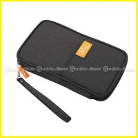 p travel korean fabric passport cover sampul paspor wallet card dompet