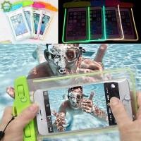 COD / qipin Tas Pouch Handphone Anti Air untuk iPhone / Samsung