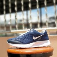 sepatu sport nike airmax foam free navy white - sneakers running pri