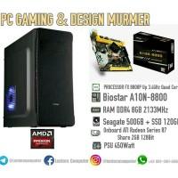 PC GAMING DAN DESIGN ANTI LAG AMD FX 8800P RAM 8GB SSD 120GB VGA 2G