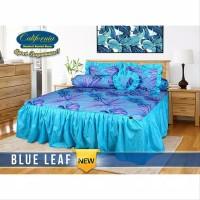Sprei rumbai California size king 180x200 motif BLUE LEAF
