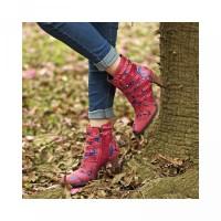 Aksen Kulit Rivet Ankle Bahan untuk Wanita Sepatu SOCOFY Boots Jahitan