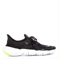 Sepatu NIKE ORIGINAL TERBARU Free Rn 5.0 Black White