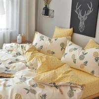 On Sale.. Bed Cover Set Motif Nanas Mix Kotak Katun Lokal Catra Uk 2