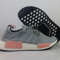 Sepatu Running Adidas NMD R1 Grey Pink Replika Impor