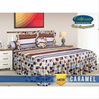 Sprei rumbai California size king 180x200 motif CARAMEL