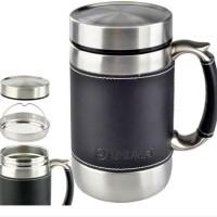 SHUMA 0.6 LITER Leather Mug Termos Stainless Vacuum MUG BG 600 ml
