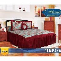 set sprei Rumbai California size king motif CEMPAKA