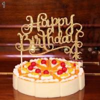 Selamat Ulang Tahun Kue Topper Dekorasi Pesta Tanpa Tongkat