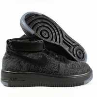 Sepatu Running Nike Air Force One Ultrflyknit Black Grey Replika Imp