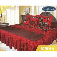 Sprei rumbai California size king 180x200 motif MIRAH