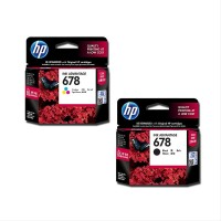 HP 678 Ink Catridge Tinta Black atau Colour 100 persen Original par