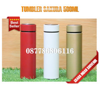 tumbler sakura stainless 500ml | botol tumbler sakura promosi custom