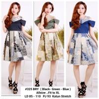 Batik Dress Wanita / Dress Batik Kombinasi