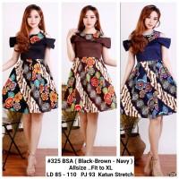 Dress Sabrina / Dress Batik Pesta