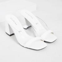 Guzzini YN 22 Putih - Sandal Block Heels Wanita