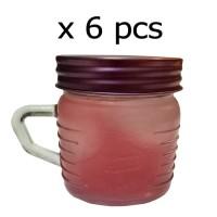 1 SET 6 PCS DRINKING JAR/JAR GLASS/GELAS MUG/GELAS KACA/MUG JAR/MUG