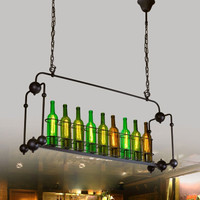 Lampu gantung hias rumah mini bar cafe ISLAND WINE RACK pendant light