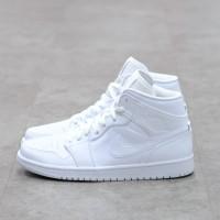 Air Jordan 1 Mid Triple White 100% Authentic