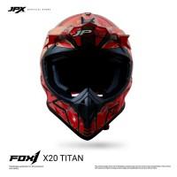 JPX Cross Full Face X20 Titan - Fluorescent Red Doff