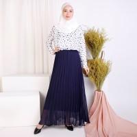 Long Dress gamis Lengan Panjang Sifon Muslimah - Jfashion Elois onde