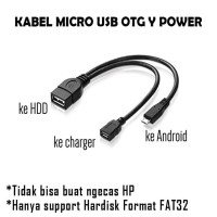 OTG Y Micro USB to USB Female untuk Hard Disk external