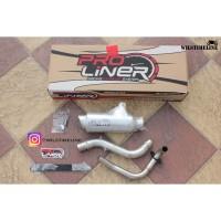 Knalpot PROLINER type TR-1R Short untuk Honda Beat Bore Up 130cc