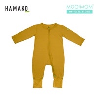 HAMAKO Baju Bayi Terusan 2Way Zip Coverall