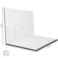 Alas Foto Lipat Semen Putih 42x30cm / Background Foto Produk (CL-08)