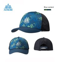 Aonijie E4106 Cap Hat Mesh - Topi Sport Lari Sepeda Golf -BLUE VERDANT