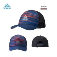 Aonijie E4106 Cap Hat Mesh - Topi Sport Lari Sepeda Golf - BLUE RED
