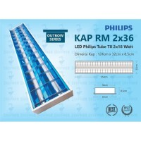 RMO PHILIPS LED 2X18W 120CM 7PCS DAN SUPREME KABEL NYM 2X2.5MM 1 ROLL