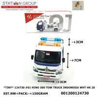 TINY DIECAST 124730 #01 HINO 300 TOW TRUCK INDONESIA DISHUB WHITE 20