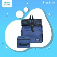 Natural Moms Flip Green Backpack / Tas Asi Bayi/Cooler Bag