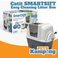 Bak pasir kucing besar toilet otomatis Catit Sifting Smartsift Cat Pan