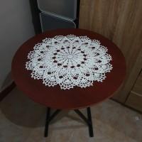 Taplak Meja Rajut Bulat Doily Crochet 27